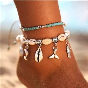New bohemian Starfish  Anklets Set For Women
